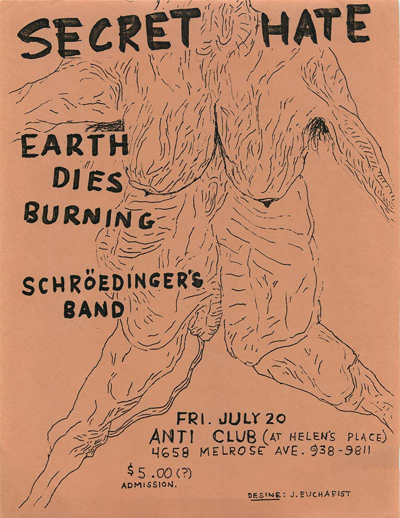 Secret hate, Earth Dies Burning, Schrodinger's Band at Anticlub