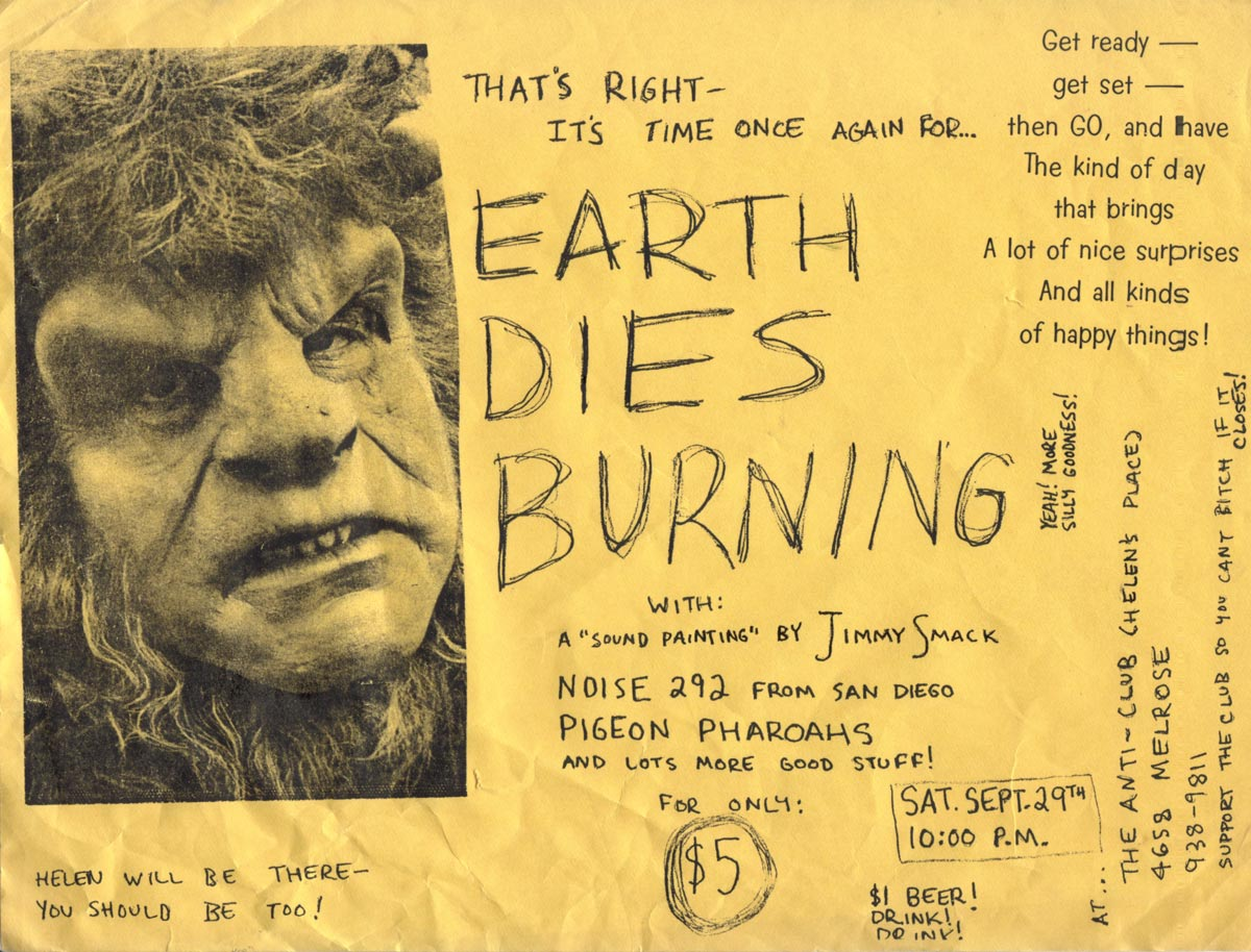 That's right--it's time once again for... EARTH DIES BURNING! With: A